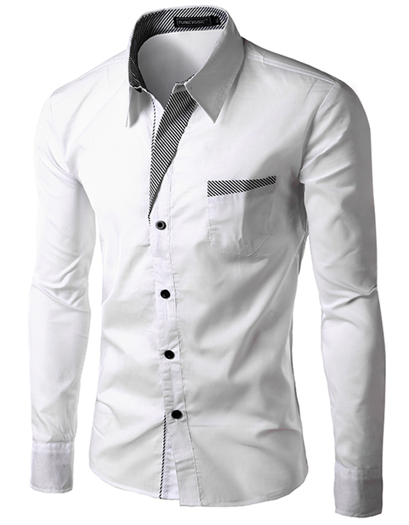 New Mens clothing Long Sleeve Luxury Casual Slim Stylish Dress Shirts 4 Color