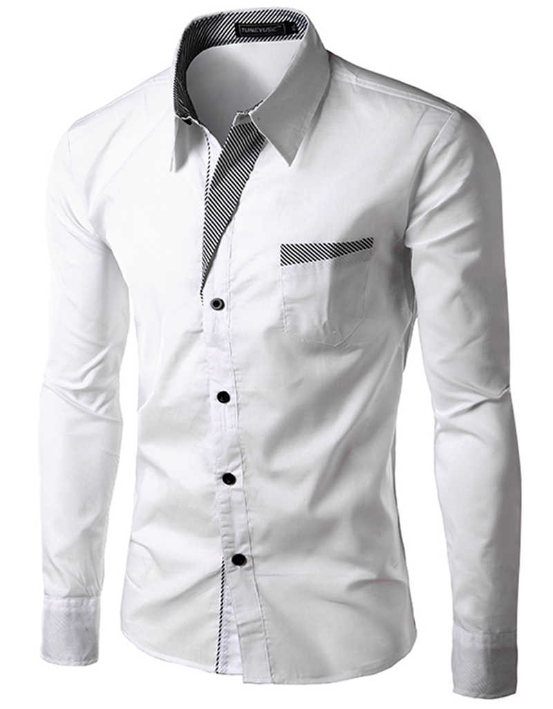 fb6dbbee80 Detail Feedback Questions about Free Shipping 2015 New Mens Shirts Casual Slim  Fit Stylish Hot Dress Shirts Color:White,Black,Red,Navy blue Size:M 4XL  8012 ...