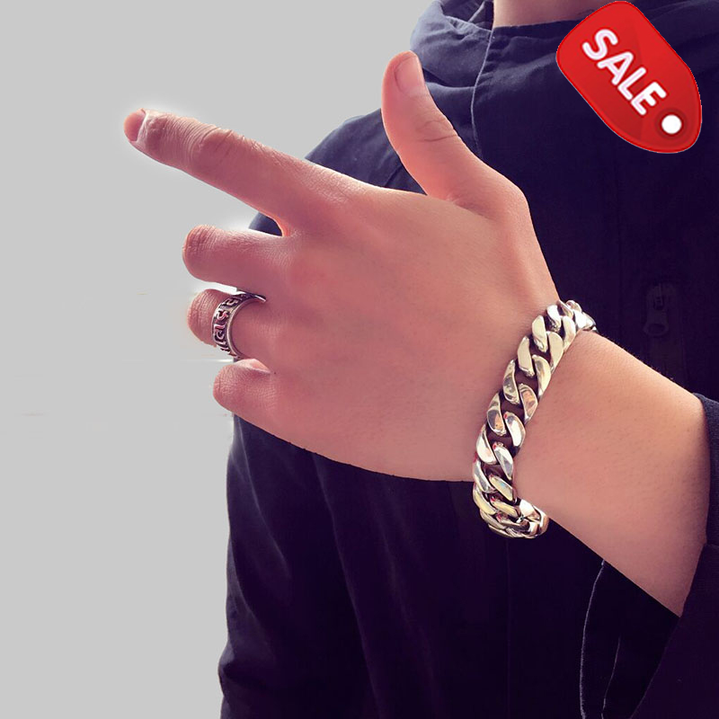 ZABRA, Роскошные браслеты из серебра 925 пробы, для мужчин, высокая полировка, панцирное звено, цепочка, браслет для мужчин, Ретро стиль, панк рок, байкер, мужские ювелирные изделия - 5