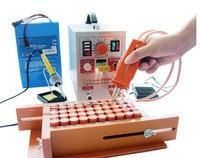 (709A Updated ) 1.5KW 709AD High power battery digital display mobile soldering Spot welder with Welding pen (HB 70B) 220V