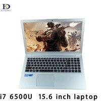 15,6 дюймов ноутбука клавиатура с подсветкой Core i7 6500U независимых Графика 1920*1080 ультратонкий портативный компьютер Нетбуки с 8 ГБ Оперативная