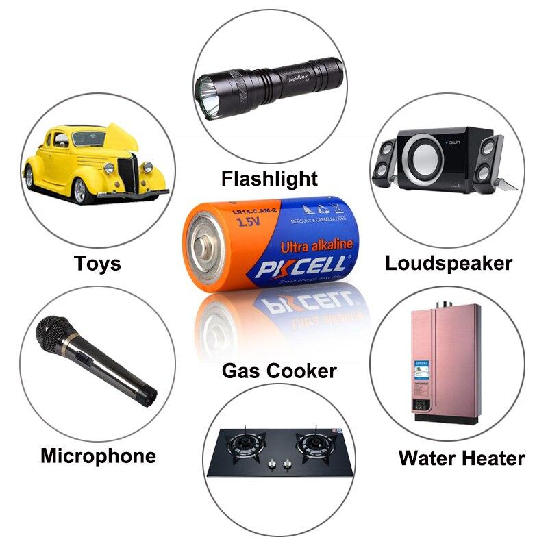 10 шт. супер щелочной C размер LR14 1,5 В 990 Мин сухой Аккумулятор для защитные элементы MP3 превосходно R14P R14 для детектора дыма