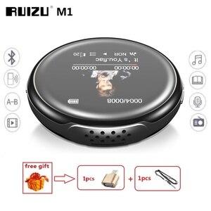 Image 1 - أحدث مشغل MP3 RUIZU M1 بلوتوث الرياضة مشغل MP3 صغير محمول الصوت 8GB مع المدمج في مكبر الصوت FM الكتاب الإلكتروني مشغل موسيقى