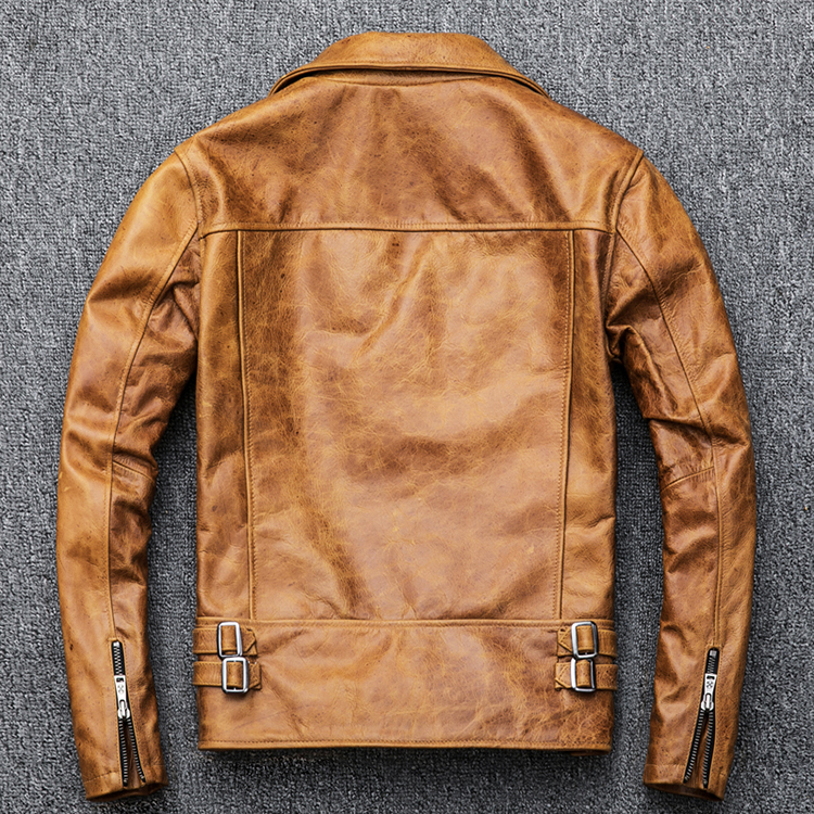 turn down collar amarelo marrom casaco de pele masculina inverno m098