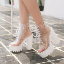 2020 new autumn fashion transparent ankle boots for women super high heels boots