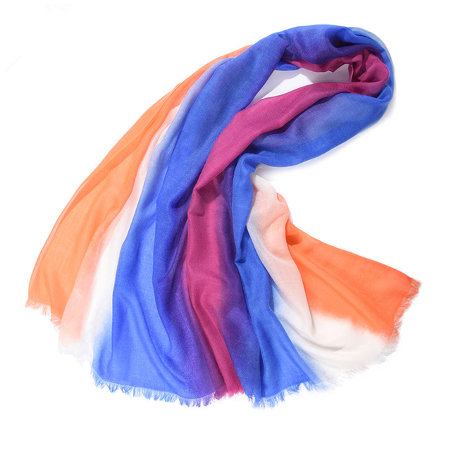 2017 Fashion Autumn Winter Brand  Rainbow twill cashmere shawl Multi Colors Women Soft Scarves Free Shipping
