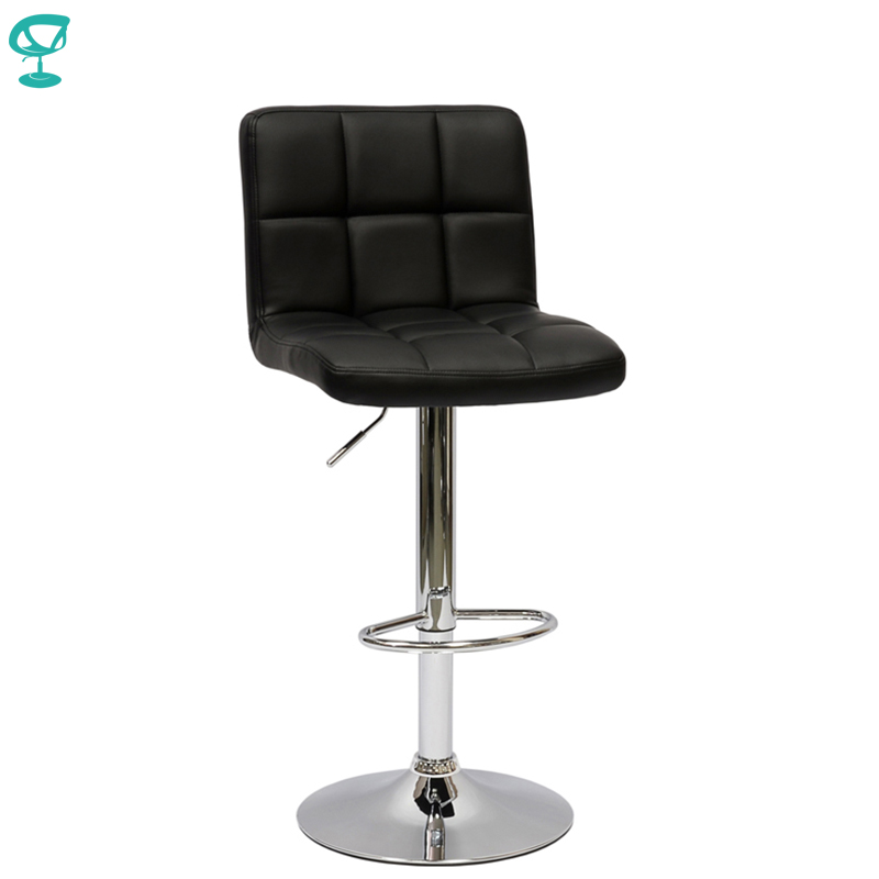 94788 Barneo N-47 Leather Kitchen Breakfast Bar Stool Swivel Bar Chair Black Color Free Shipping In Russia