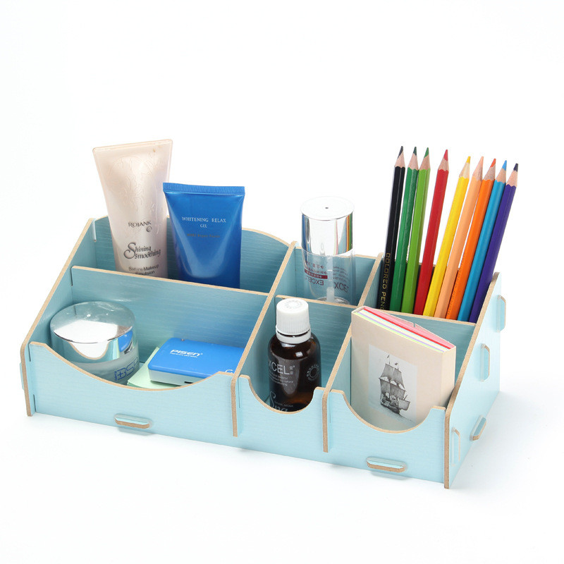 Diy Wooden Storage Box Cosmetics Stationery Jewelry Daily Debris Desktop Z Drawer Bo Case In Bins From Home Garden