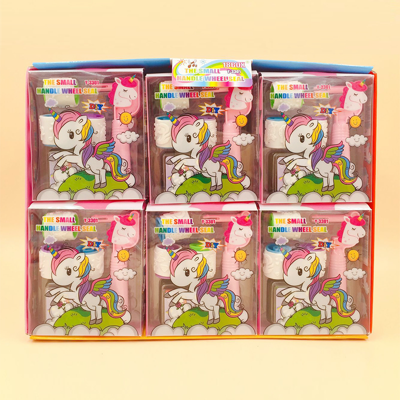 Kawaii Cartoon Unicorn Stamp Clear Stamps Set For Diary DIY Scrapbooking Kids Novelty Stationery Gifts Set School Supplies