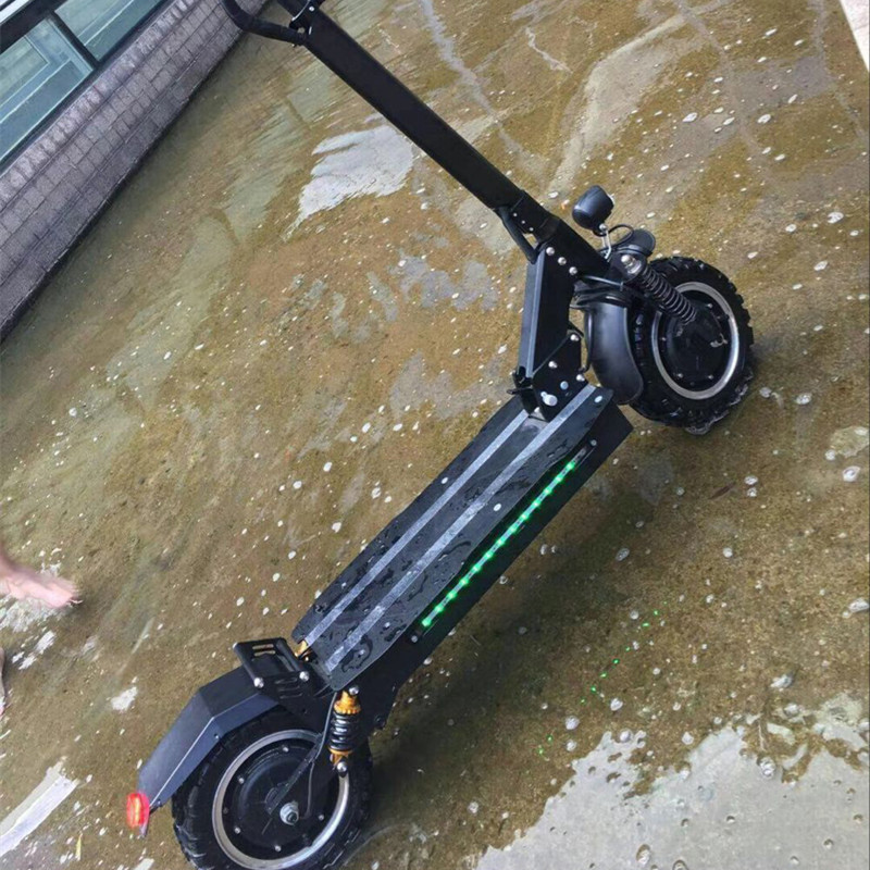 Dual Plus Dual Drive 2400W 26A Electric Scooter Better than Dualtron Minimotor All Terrain Off-road Electric Scooter Bikes 40km h 4 wheel electric skateboard dual motor remote wireless bluetooth control scooter hoverboard longboard
