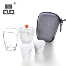 TANGPIN ceramic teapot kettle gaiwan teacups portable travel tea sets with bag
