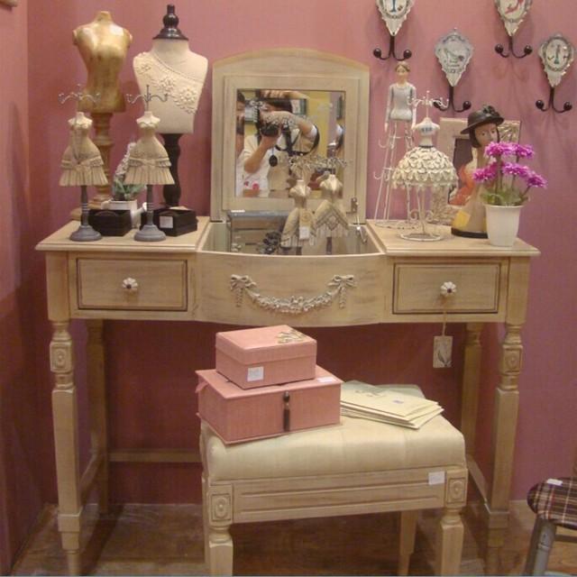 Bi Continental Furniture Dressing Table Tables Retro Minimalist Style Dresser Storage Idyllic Small Apartment