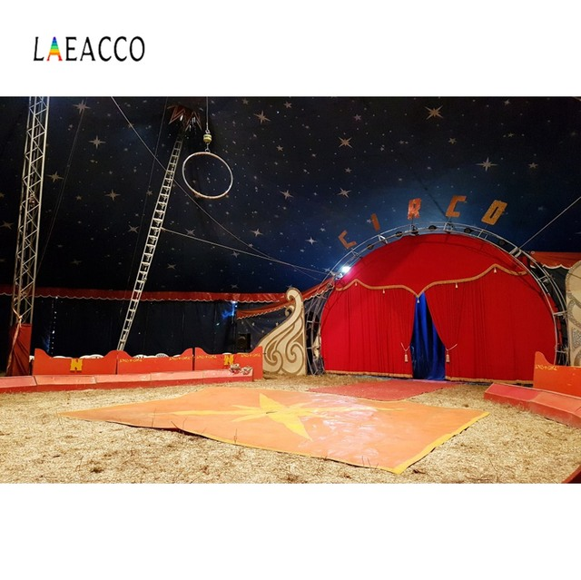 Laeacco Photo Backdrops Baby Circus Cruise Party Play Stage Child Portrait Photo Backgrounds Photographic Backdrops Photo Studio