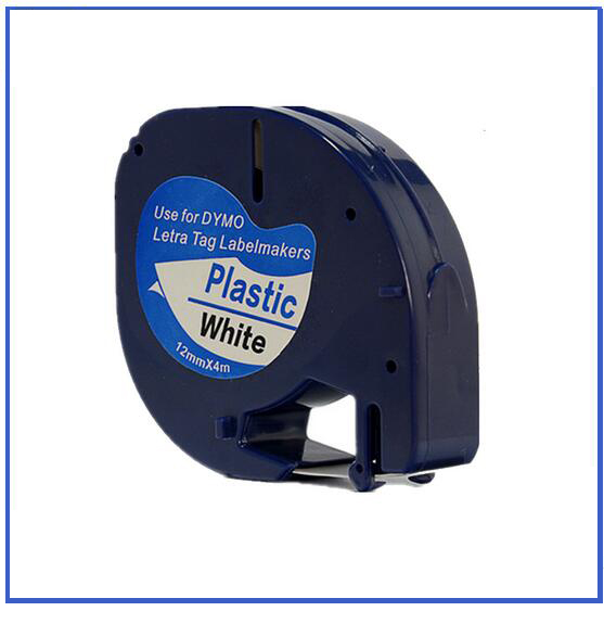 Dymo label tape plastic LT91201 DYMO LetraTag Label Tape DYMO label printer 12mm*4m black on white