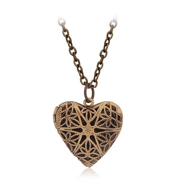 f6c8c33d64 Love Heart DIY Secret Message Locket Lover Couple Necklace | chokers ...