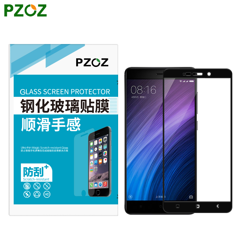 PZOZ Tempered Glass For Xiaomi RedMi 4 Screen Protector Original Xiaomi RedMi 4 Pro Film Xiomi RedMi 4X Snapdragon 430 & 625