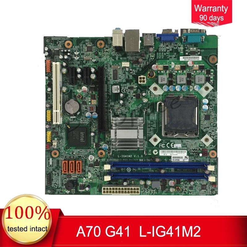 For Lenovo ThinkCentre A70 Desktop font b Motherboard b font FRU 89Y0954 L IG41M2 LGA775 G41