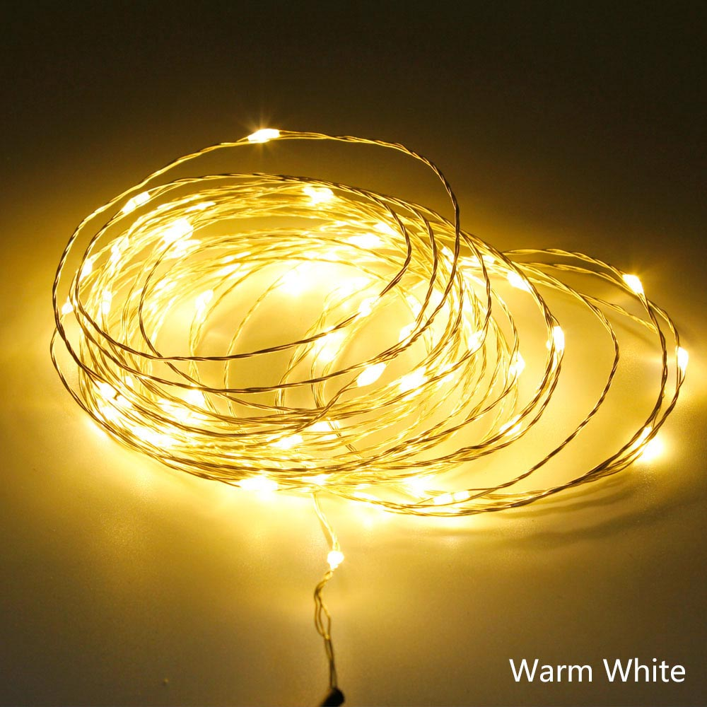 5M 50leds Waterproof Christmas Lights LED String Light 5V USB Copper Wire Fairy Outdoor Wedding Party Christmas Decoration