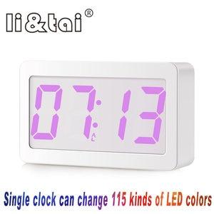 Original Modern Mudança de Cor Despertador Digital LED Relógio de Mesa Relógios 24/Horas de Exibição do relógio com Intensidade Regulável Nightlight