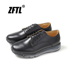 ZFTL New Men Casual board shoes sports leather elastic cushion sneakers male lace-up leisure Heightening big size 85