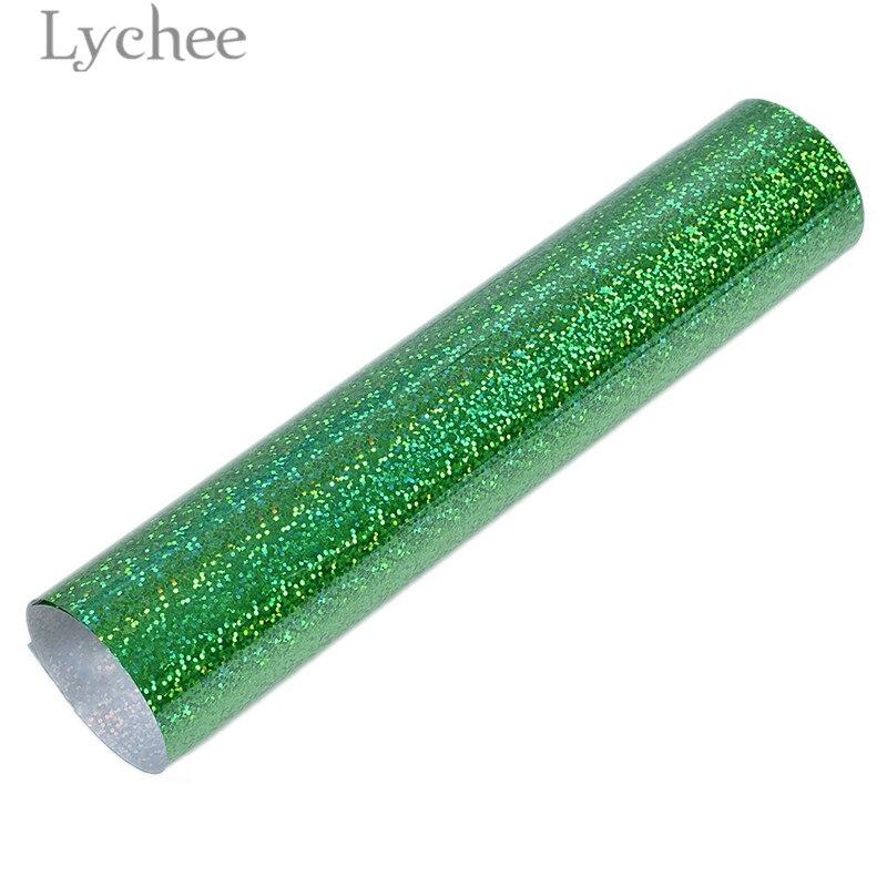 Lychee 30x25 см лазерный термопресс передачи винил блеск ПВХ декоративные принадлежности для футболки одежда - Цвет: 3