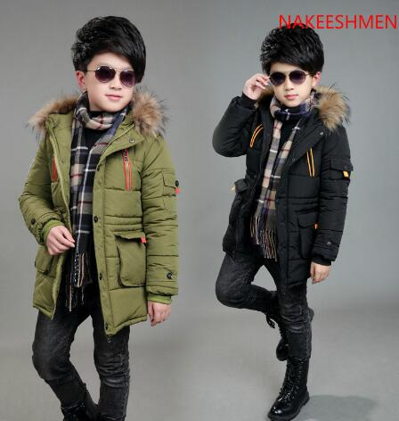 2017 New Children's Winter Jacket Boys Kids Outerwear Hooded Long Warm Thick Boys Parkas Coats Child Skiing Coat for Adolescents new 2017 russia winter boys clothing warm jacket for kids thick coats high quality overalls for boy down