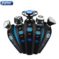 Paiter Men Electric Shaver Shaving Hair Machine Razor Rechargeable Electric Razor Wholebody Washable Multi Functions