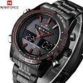 NAVIFORCE marca de Luxo Completa Steel Watch Homens Esportes LED Relógios Militares Do Exército dos homens de Quartzo Analógico Digital Watch relogio masculino