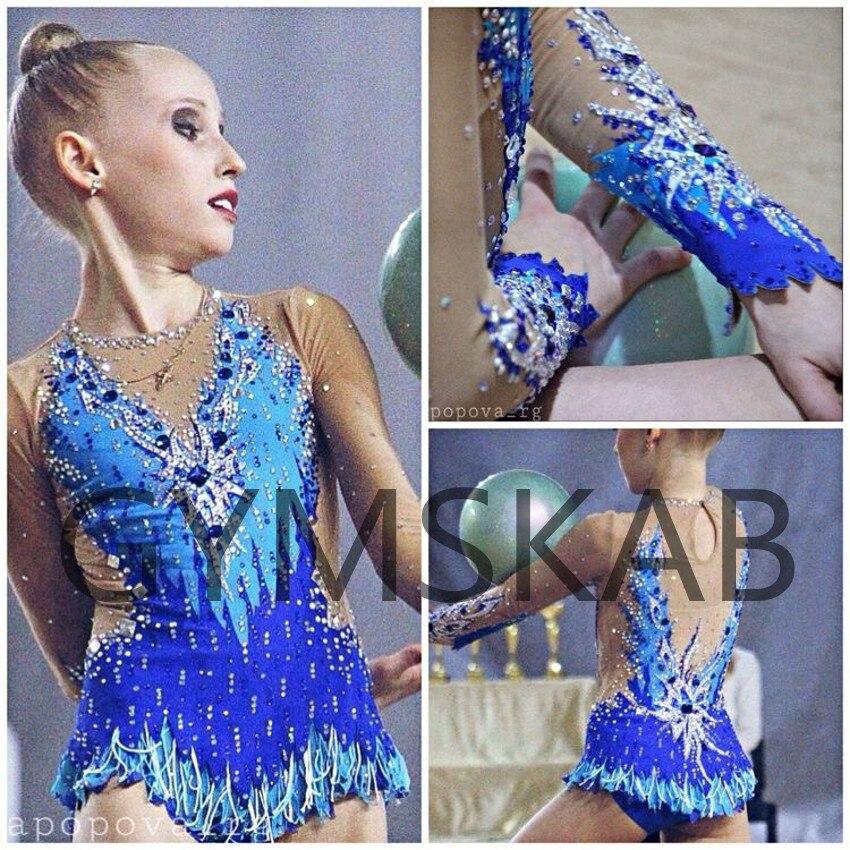 Красивое платье для гимнастики ритмики женский костюм для гимнастики 91002