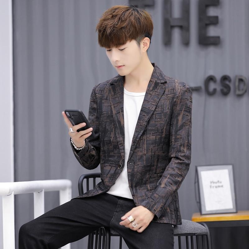 COBO Spring Of 2020, The New Handsome, Printed Blazer, Men, Trend, Casual, Striped Blazer Angle