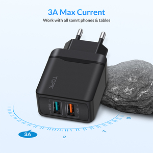 Image 3 - TOPK 28 W Sạc Nhanh QC3.0 USB Sạc Du Lịch EU Sạc Điện Thoại Adapter Đối Với iPhone Samsung Xiaomi Huawei Điện Thoại Di Động sạc