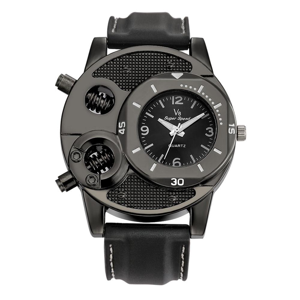 Mens Watches Top Brand Luxury V8 Men's Wrist Watches Fashion Designer Gifts For Men Sport Quartz Watch relojes para hombre 2019