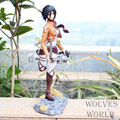 24CM Attack on Titan Attack on Titan Mikasa Ackerman PVC Action Figure Collection Model Toy AT011