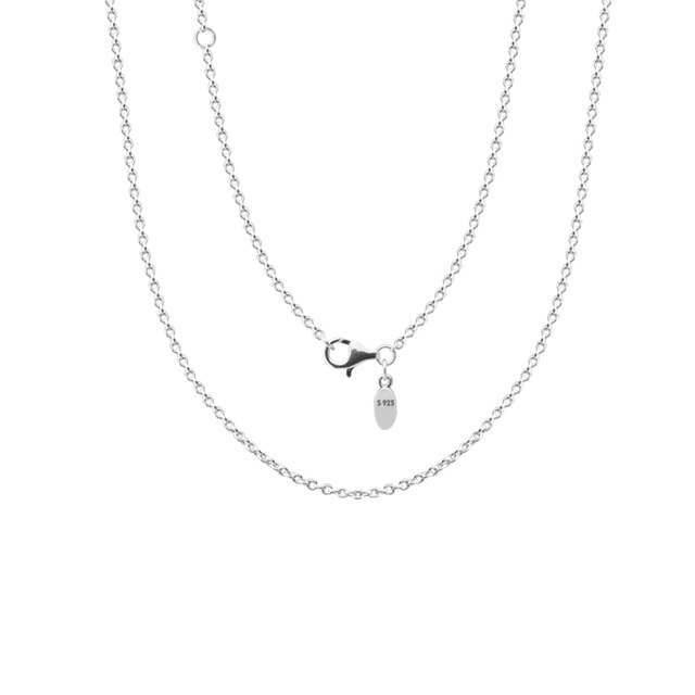 Choker Chain Necklaces Silver 925 Jewelry Lobster Clasp Long Charm Necklace Pend