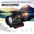 Nuevo 1 x 30RD Tactical Holográfica Red Green Dot Mira Telescópica Project Scope Sight 20mm Rail Mount para Escopeta de Caza Airsoft