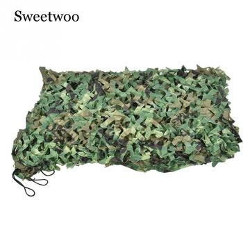 Camping Camo Net 2X3M 3X4M 4X5M Customizable Woodland Jungle Camouflage Net Hunting Shooting Fishing Shelter Hide Netting image