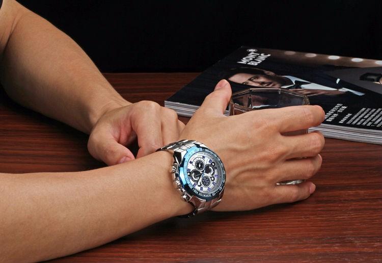The New WWOOR Luxury Brand Men's Watches Stainless Steel Strap Sports Waterproof Watch Relogio Male Quartz Watch Leisure Watch 5