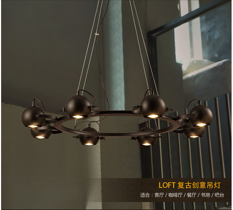 modern black iron spider pendant light coffee shop restaurant personalized bedroom hanging light lamp