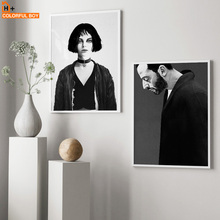 Canvas Art Print Wall Painting Leon The Professional Black White Movie Posters And Prints Nordic Pictures For Living Room
