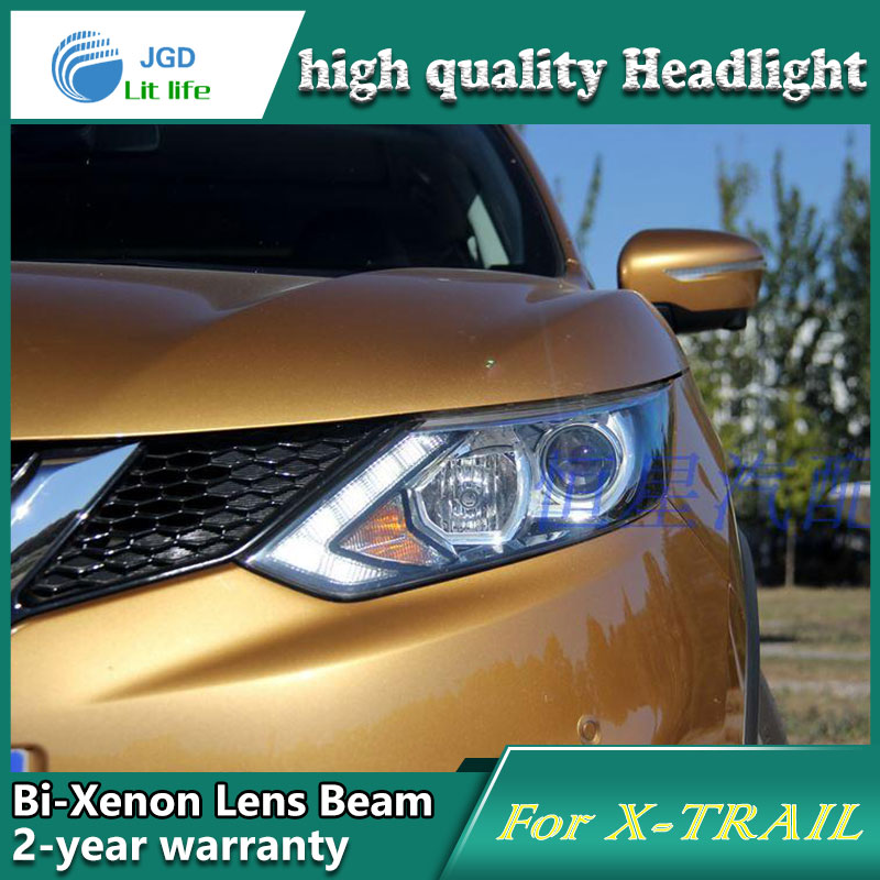 Car Styling Head Lamp case for Nissan Qashqai Headlights LED Headlight DRL Lens Double Beam Bi-Xenon HID car Accessories akd car styling for nissan teana led headlights 2008 2012 altima led headlight led drl bi xenon lens high low beam parking