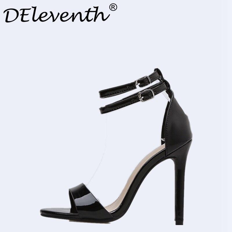 Summer Gladiator Sandals Women Shoes Stiletto High Heels Sandals Black Open Toe Sexy Party Dress Sandals Women Female Sandals 5