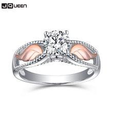 89dcf5ef082b 2018 Nueva joyería de circón de moda Ángel de ala parte anillo de oro rosa  aleación