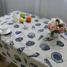 Nodic סגנון פשוט הדפסת מפת כותנה Dustproof מלבני תחרה לעבות שולחן כיסוי מסיבת חתונת בית טקסטיל tafelkleed