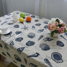 Nodic Style Simple Print Tablecloth Cotton Dustproof Rectangular Lace Thicken Table Cover Wedding Party Home Textile tafelkleed