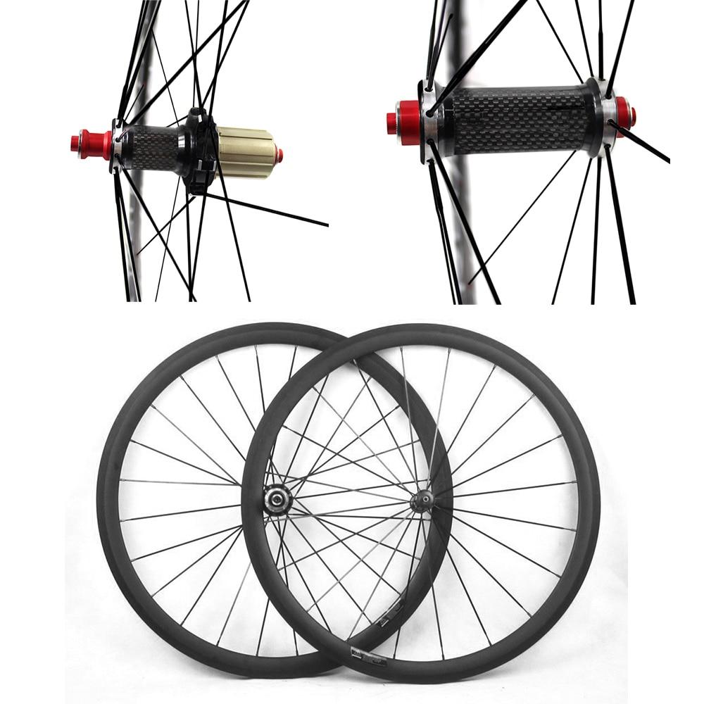 Roues de Bicyclette De carbone UD Mat 700C 23/25mm Large 38mm 50mm 60mm 88mm Carbone hub Vélo De Route Basalt Frein Surface Carbone Roues