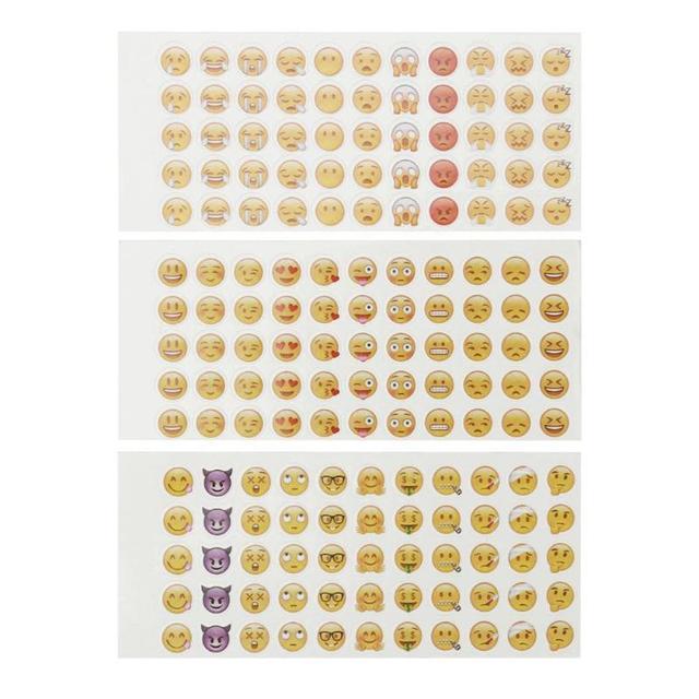12 hojas pegatinas Emoji emoticonos sonriente chico DIY nota ordenador portátil monopatín diario teléfono maestro recompensa etiqueta engomada