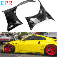 For Nissan 350Z Glass Fiber Rocket Bunny Front Fender Wide Body Kit Car Styling Car Tuning Part For 350Z Fiberglass Front Fender