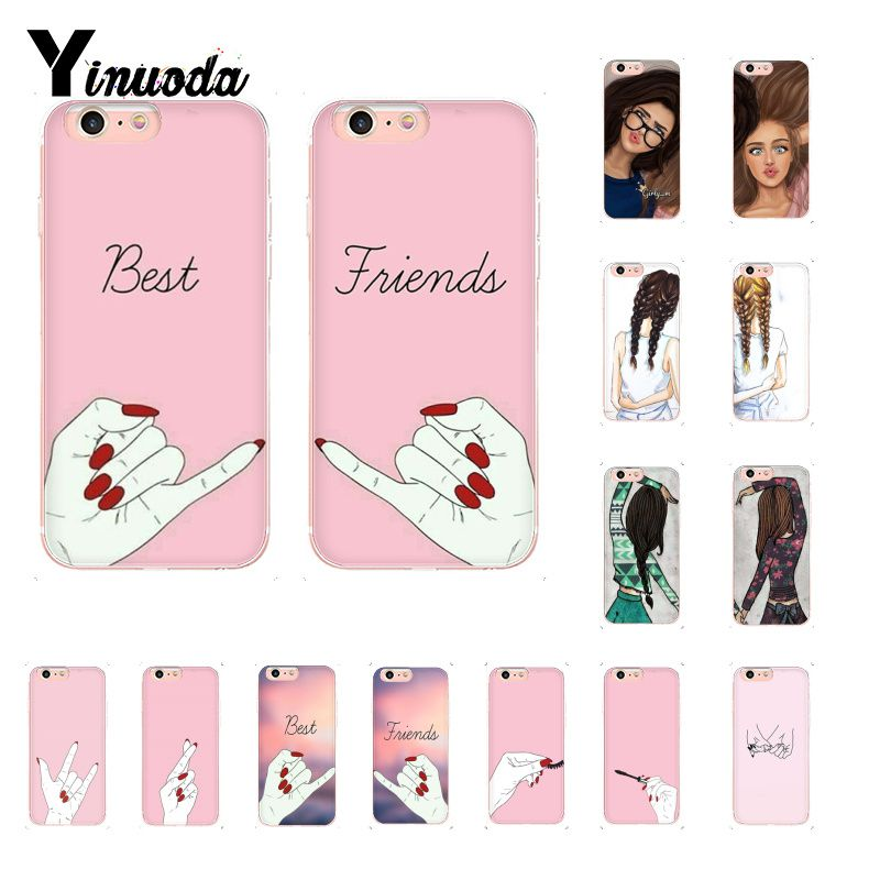 Yinuoda Best Friends DIY Printing Drawing Phone Case for iPhone 8 7 6 6S Plus X XS MAX 5 5S SE XR 10 Cover image