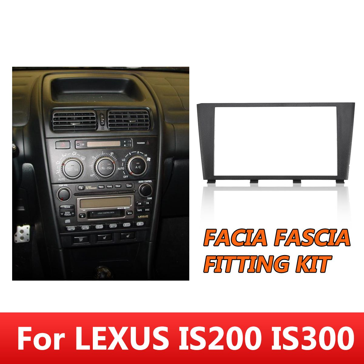 CD Radio Stereo Facia Fascia Fitting Kit Surround ISO Lead For Toyota <font><b>Altezza</b></font> Frame Console For <font><b>LEXUS</b></font> IS200 <font><b>IS300</b></font> 1995-2006 image