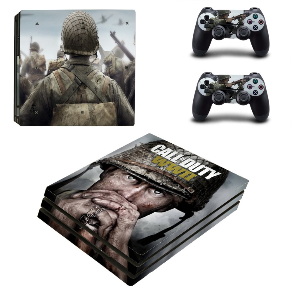 Call of Duty WWII PS4 Pro Skin Sticker Cover For Sony Playstation 4 Pro Console&Controllers